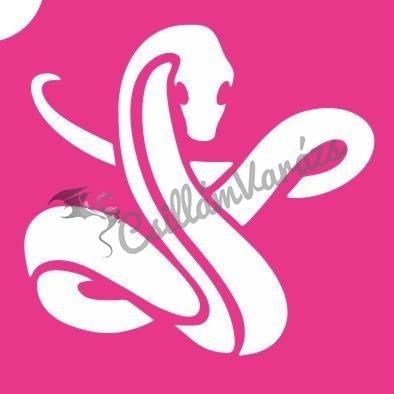 Kígyó 01 csillámtetoválás sablon
