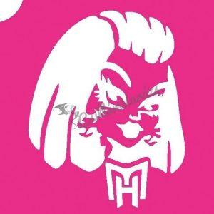 Monster High 03 csillámtetoválás sablon