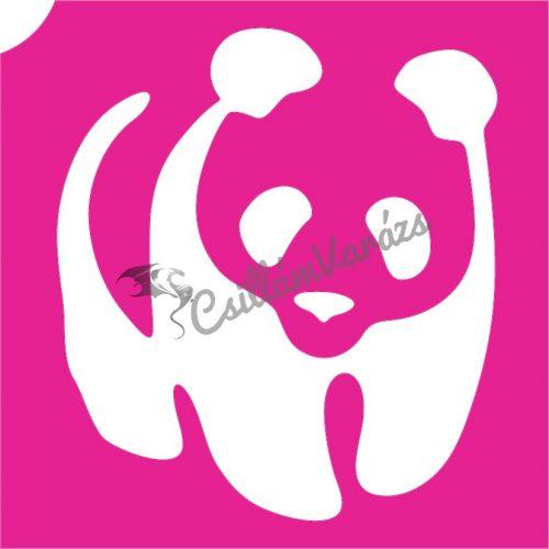 Panda 01 csillámtetoválás sablon