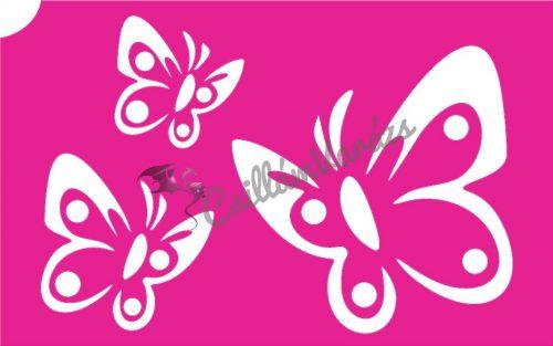 Pillangó 28 csillámtetoválás sablon