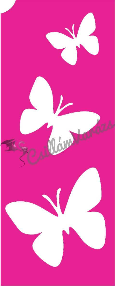 Pillangó 29 csillámtetoválás sablon
