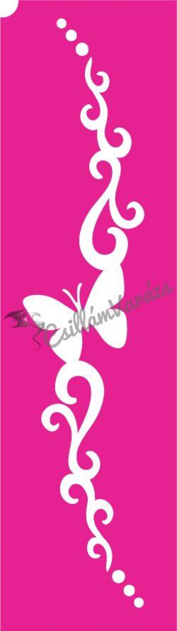 Pillangó 30 csillámtetoválás sablon