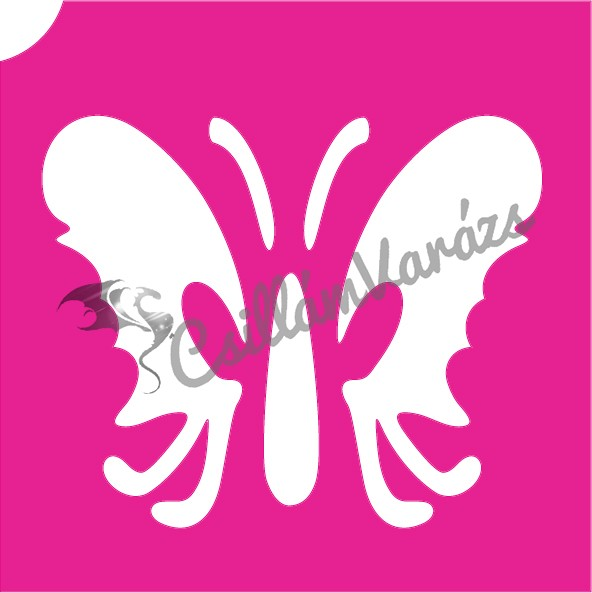Pillangó 33 csillámtetoválás sablon