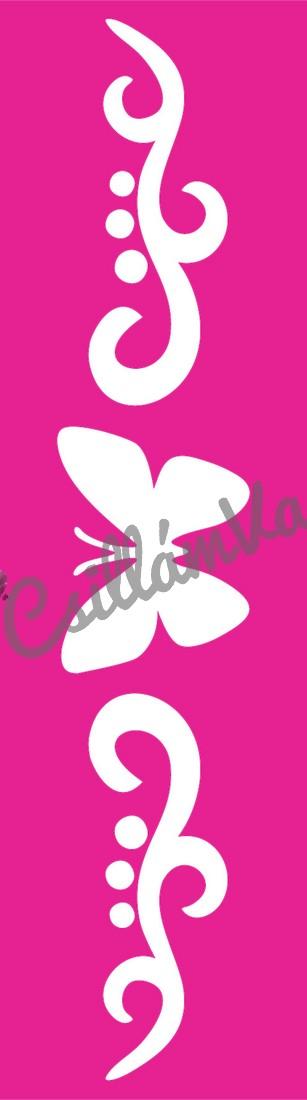 Pillangó 36 csillámtetoválás sablon