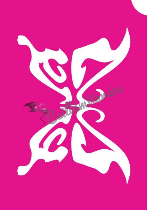 Pillangó 37 csillámtetoválás sablon