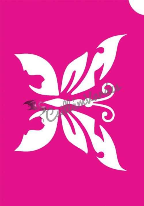 Pillangó 38 csillámtetoválás sablon