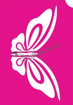 Pillangó 41 csillámtetoválás sablon