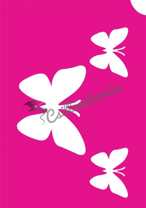 Pillangó 44 csillámtetoválás sablon