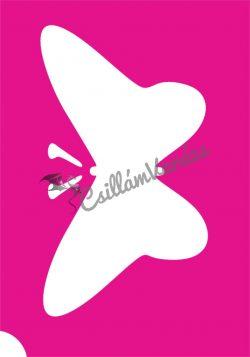 Pillangó 45 csillámtetoválás sablon