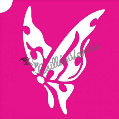 Pillangó 46 csillámtetoválás sablon