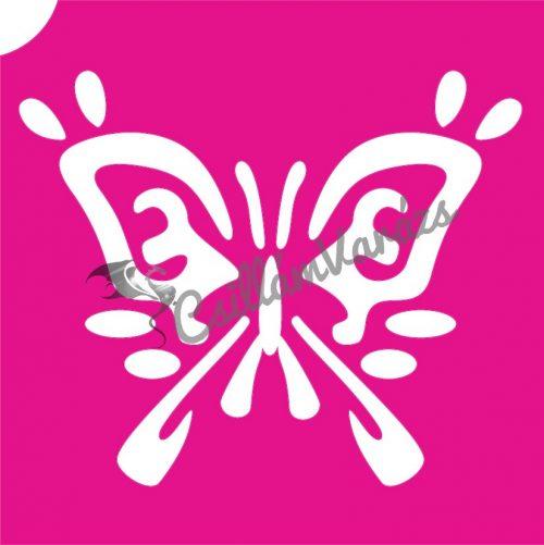 Pillangó 51 csillámtetoválás sablon