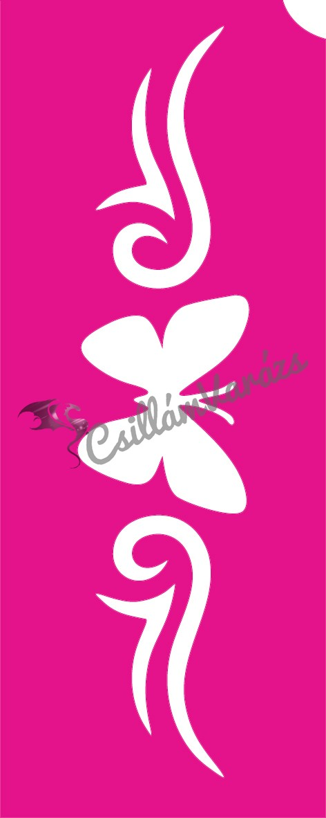 Pillangó 54 csillámtetoválás sablon