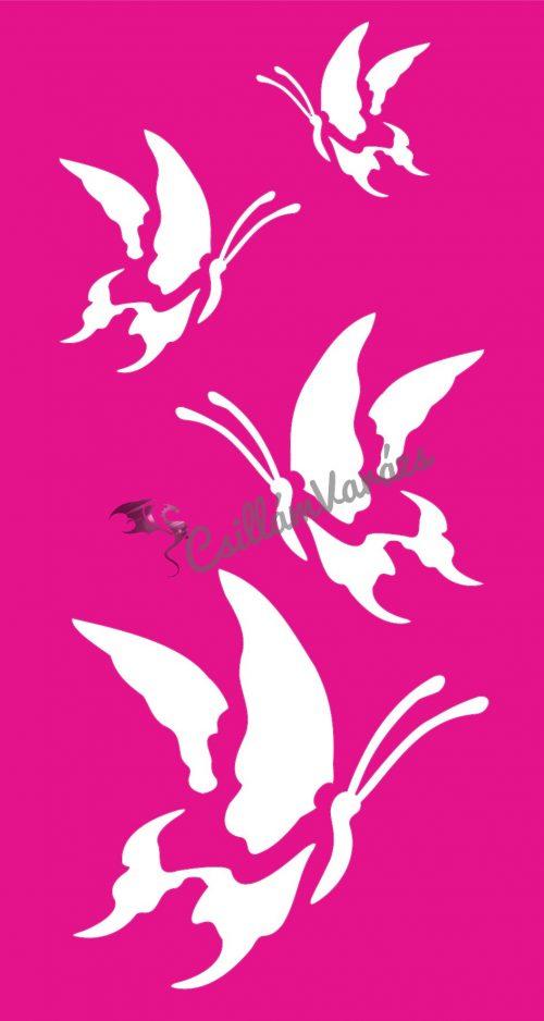 Pillangó 55 csillámtetoválás sablon