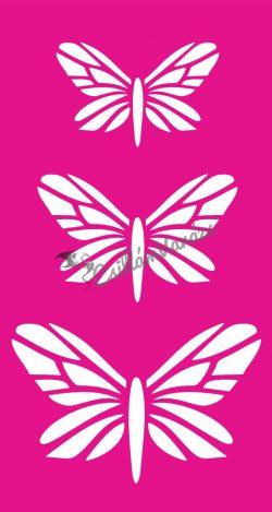 Pillangó 56 csillámtetoválás sablon