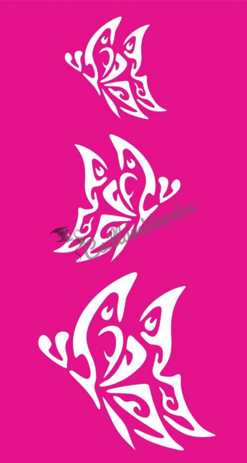 Pillangó 57 csillámtetoválás sablon