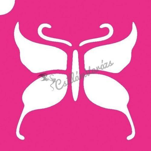 Pillangó 02 csillámtetoválás sablon