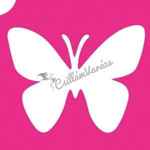 Pillangó 04 csillámtetoválás sablon