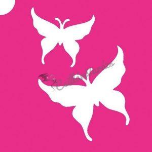 Pillangó 07 csillámtetoválás sablon
