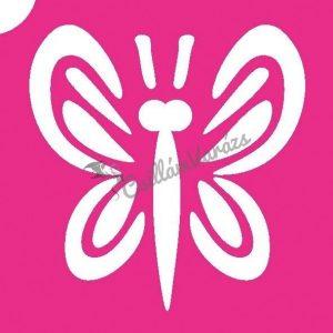 Pillangó 08 csillámtetoválás sablon