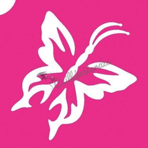 Pillangó 12 csillámtetoválás sablon