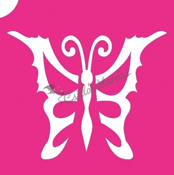 Pillangó 16 csillámtetoválás sablon