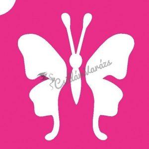 Pillangó 18 csillámtetoválás sablon