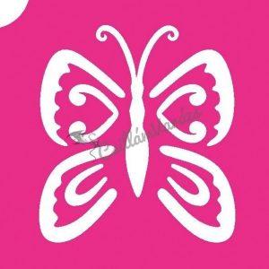 Pillangó 19 csillámtetoválás sablon