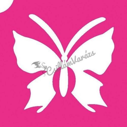 Pillangó 20 csillámtetoválás sablon