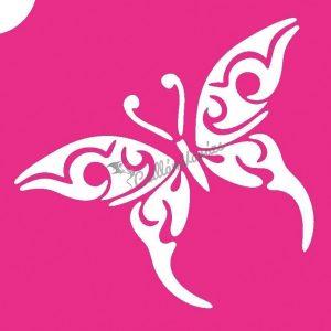 Pillangó 22 csillámtetoválás sablon
