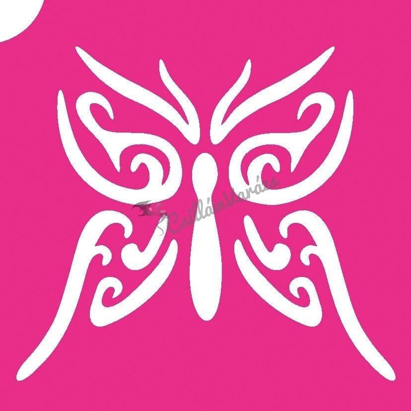 Pillangó 25 csillámtetoválás sablon