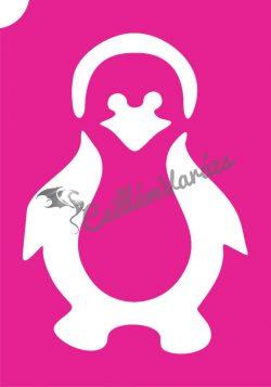 Pingvin 01 csillámtetoválás sablon