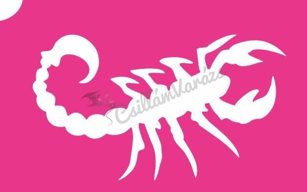 Skorpió 01 csillámtetoválás sablon