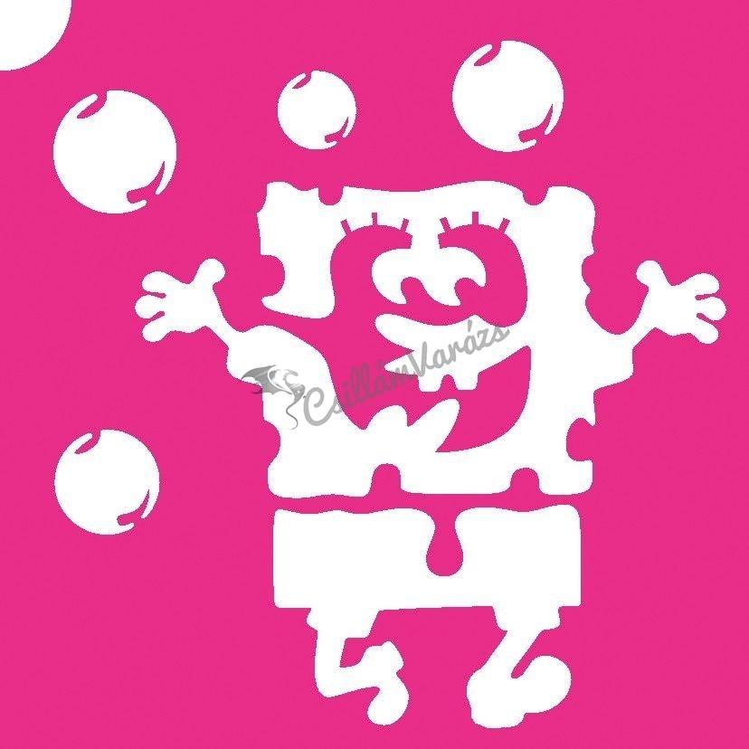SpongyaBob 01 csillámtetoválás sablon