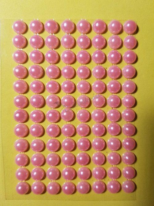 Baba rózsaszín színű gyöngyház hatású strasszkő (96db)