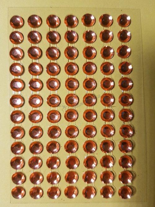 Barack színű csiszolt kő hatású strasszkő (84db)