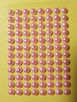 Barackvirág színű gyöngyház hatású strasszkő (96db)
