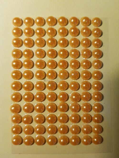 Érett sárga színű gyöngyház hatású strasszkő (96db)