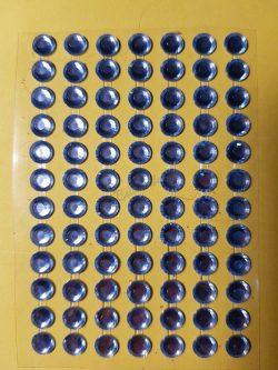 Farmerkék színű csiszolt kő hatású strasszkő (84db)