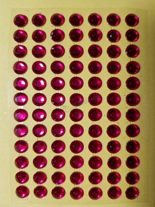 Fukszia színű csiszolt kő hatású strasszkő (84db)