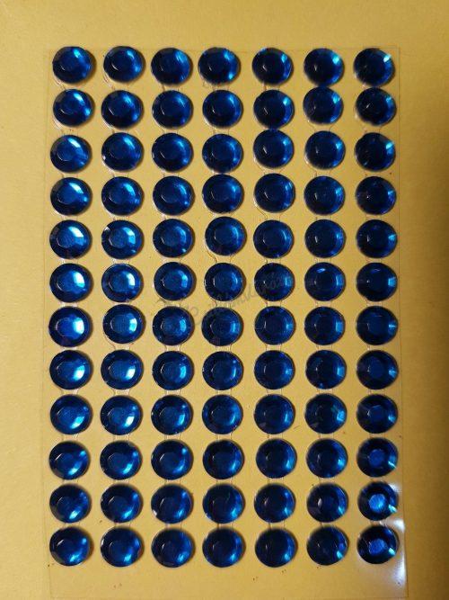 Királykék színű csiszolt kő hatású strasszkő (84db)