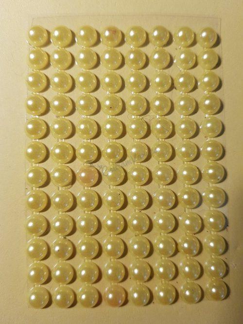 Napsárga színű gyöngyház hatású strasszkő (96db)