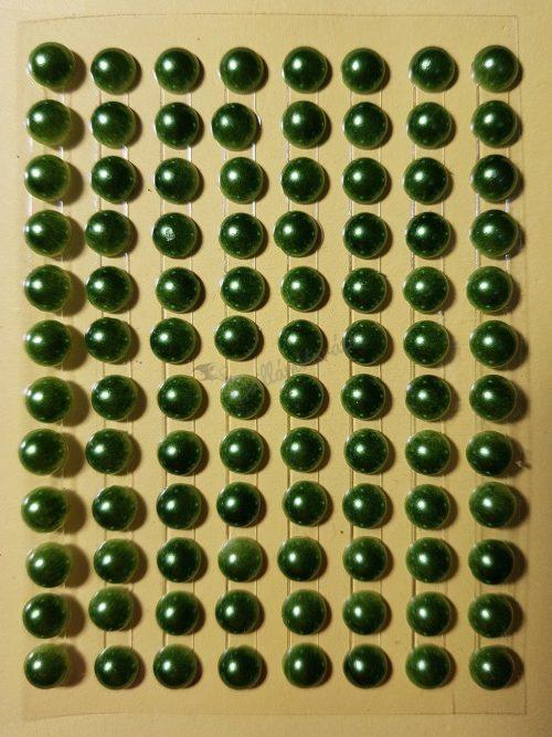 Oliva zöld színű gyöngyház hatású strasszkő (96db)