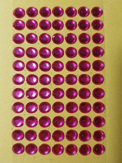 Pink színű csiszolt kő hatású strasszkő (84db)