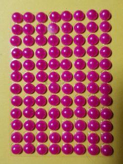 Pink színű gyöngyház hatású strasszkő (96db)