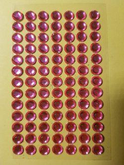 Rózsaszín színű csiszolt kő hatású strasszkő (84db)