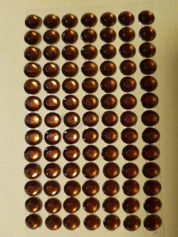 Sötét arany színű csiszolt kő hatású strasszkő (84db)