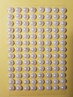 Tekla fehér színű gyöngyház hatású strasszkő (96db)