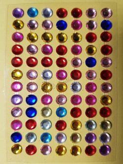Vegyes színű csiszolt kő hatású strasszkő csomag (84db)