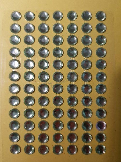 Világoszöld színű csiszolt kő hatású strasszkő (84db)