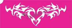 Szív 32 csillámtetoválás sablon